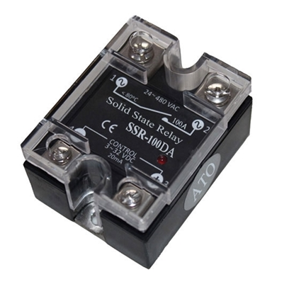 Solid state relay SSR-100DA, 100A 3-32V DC to AC