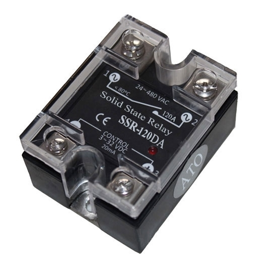 Solid state relay SSR-120DA, 120A 3-32V DC to AC