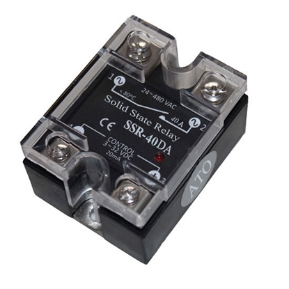 Solid state relay SSR-40DA, 40A 3-32V DC to AC