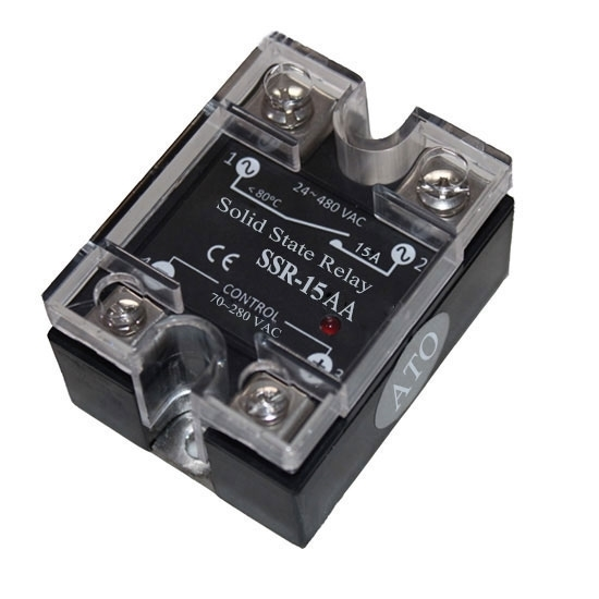 Solid state relay SSR-15AA, 15A 70-280V AC to AC