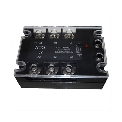 Solid state relay, 3 phase,  SSR-25DA, 25A 3-32V DC to AC