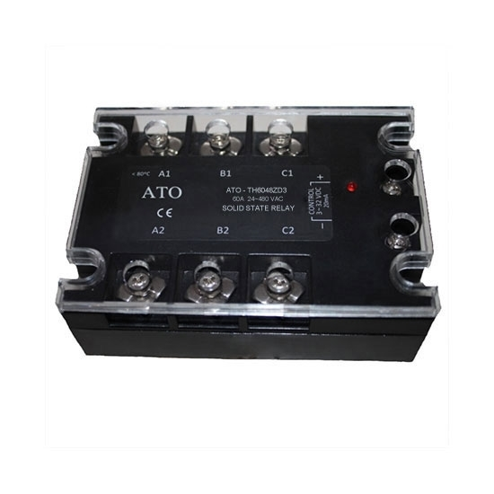Solid state relay, 3 phase,  SSR-60DA, 60A 3-32V DC to AC