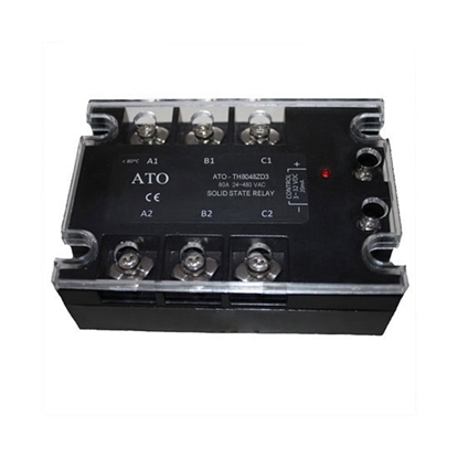 Solid state relay, 3 phase,  SSR-80DA, 80A 3-32V DC to AC