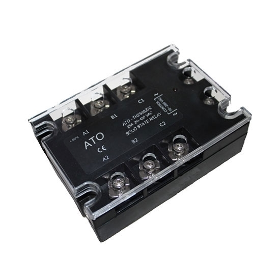 Solid state relay, 3 phase,  SSR-25AA, 25A 70-280V AC to AC