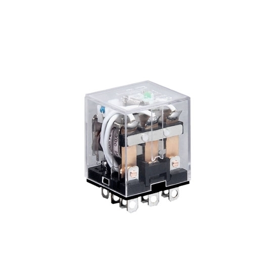 Electromagnetic Relay, 11-pin 3PDT, 12V/24V/110V/220V