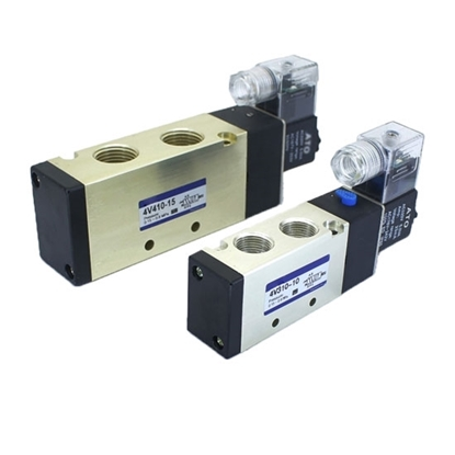 Pneumatic Single Solenoid Valve, 5 Way, 12V/24V/110V/220V
