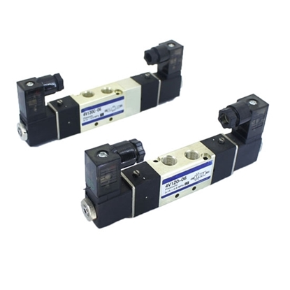 Pneumatic Double Solenoid Valve, 5 Way, 12V/24V/110V/220V