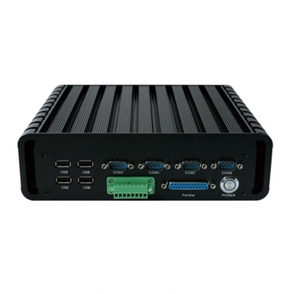 Fanless Embedded Industrial PC, core i3 i5 i7, 6 COM, 2 LAN