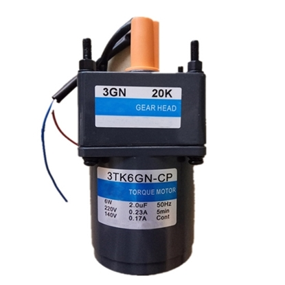6 W AC Gear Motor, Torque  Motor with Gearbox, single phase
