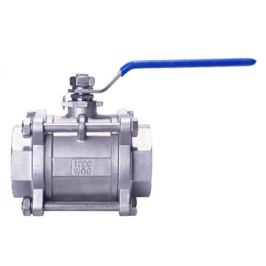 3-PC Stainless Steel Ball Valve, Full Port, 1000WOG