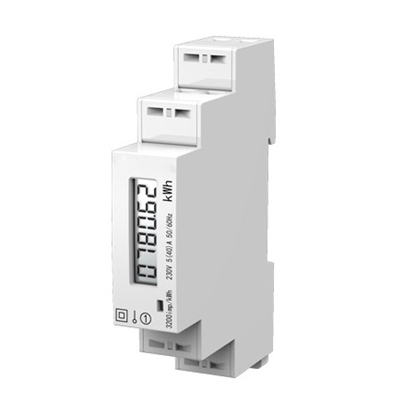 Single Phase DIN Rail Mounted Digital Energy Meter