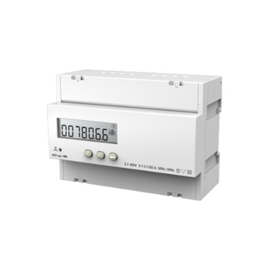 DIN Rail Mounted 3 Phase LCD Display Digital Energy Meter