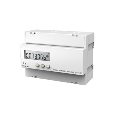 Three Phase DIN Rail Electric kWh Energy Meter