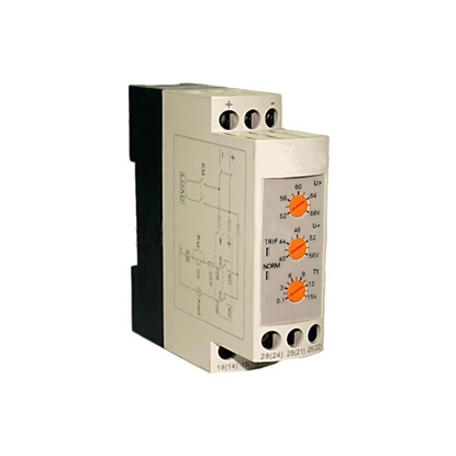 DC Voltage Monitoring Relay, Under/Over Voltage, 12V/24V/48V DC