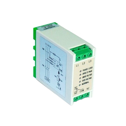 3 Phase Monitoring Relay, SPDT, Phase Failure/Undervoltage/Overvoltage