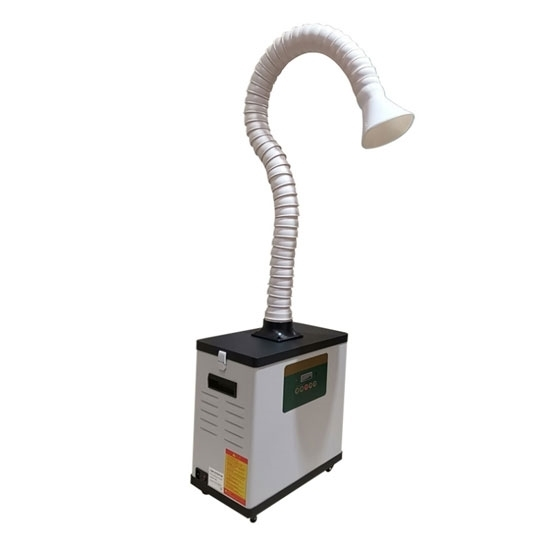 Portable Fume Extractor with Flexible Arm, Digital Display