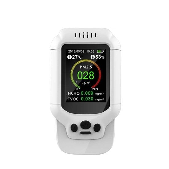 Portable Air Quality Monitor, PM2.5/HCHO/TVOC/Temperature/Humidity