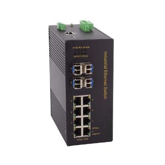 12 Port Full Gigabit Unmanaged Industrial Switch, Din Rail