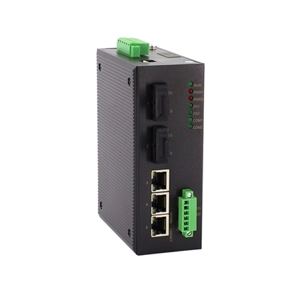 5 Port Managed Industrial Switch, Layer 2, Din Rail