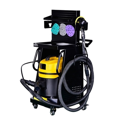 Air Sander Tool Cart with Dust Collector/Servo