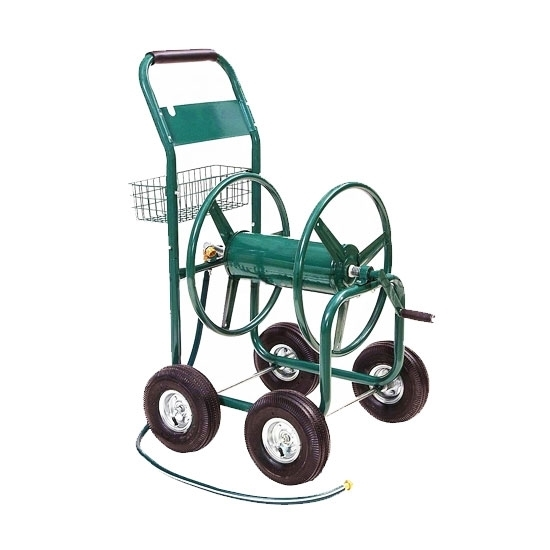 Garden Hose Reel Cart, 300 ft, 4 Wheel