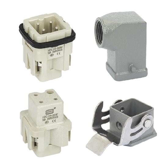Heavy Duty Connector, 3 Pin, AC 250V / 10A