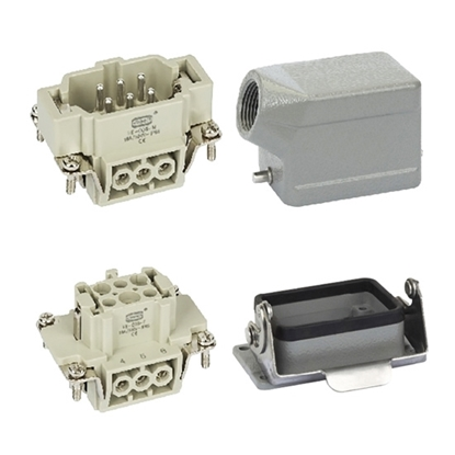 Heavy Duty Connector, 6 Pin, AC 500V / 16A