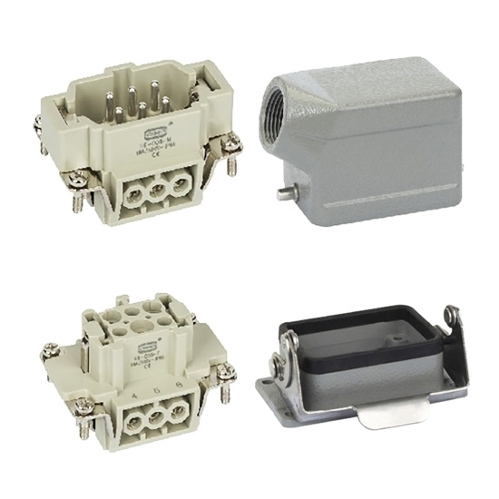 Heavy Duty Connector, 6 Pin, AC 500V / 16A