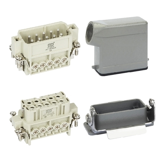 Heavy Duty Connector, 10 Pin, AC 250V/500V, 16A