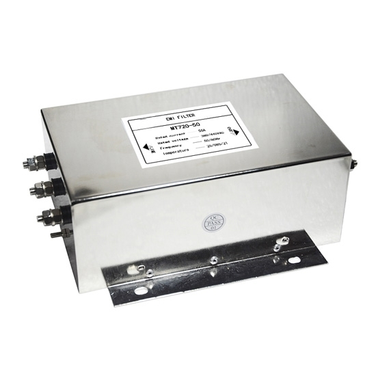 50A 3-phase EMI Line Filter, 2 Stage
