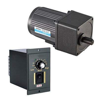 40W Single Phase AC Gear Motor, Speed Control