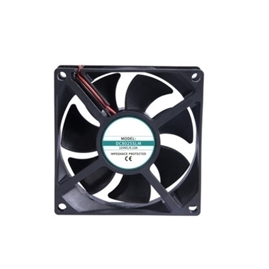 12V/24V DC Cooling Fan, 80mm x 80mm x 25mm