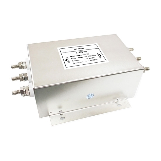 100A 3-phase Power Line Filter, 2 Stage