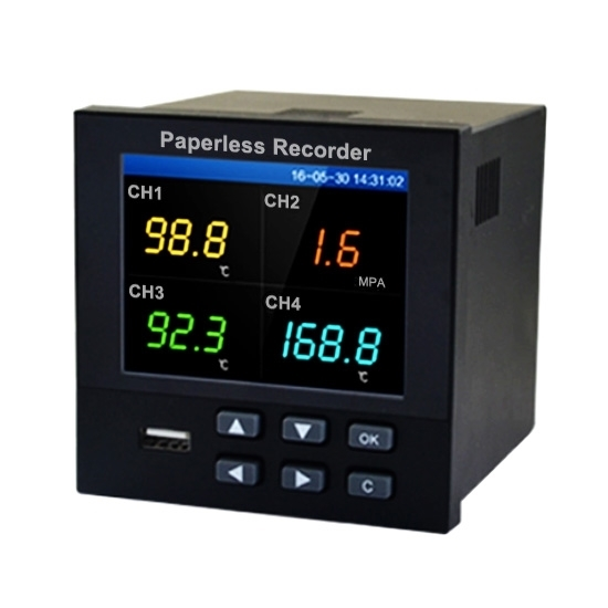 Paperless Recorder 1/4/8/12/18 Channel Output RS485