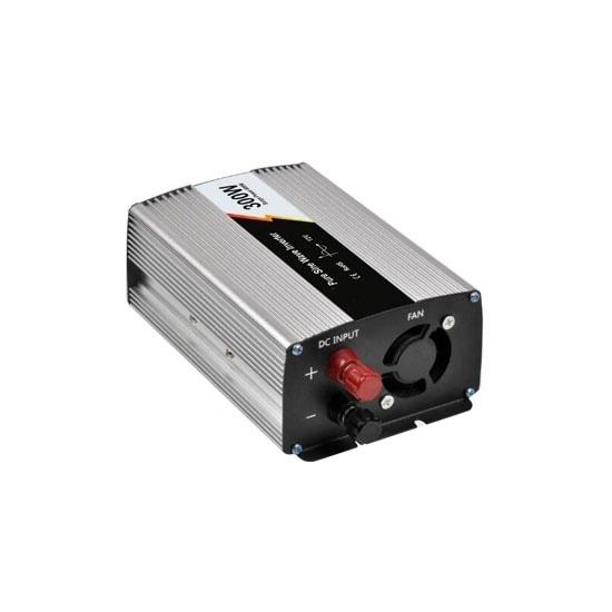 300 Watt Pure Sine Wave Power Inverter, 12V DC to 110V AC