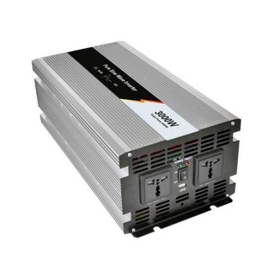 3000 Watt Pure Sine Wave Power Inverter, 24V DC to 120V AC