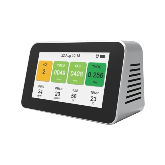 Home Air Quality Monitor, PM2.5/PM1.0/PM10/CO2/TVOC/Temperature/Humidity