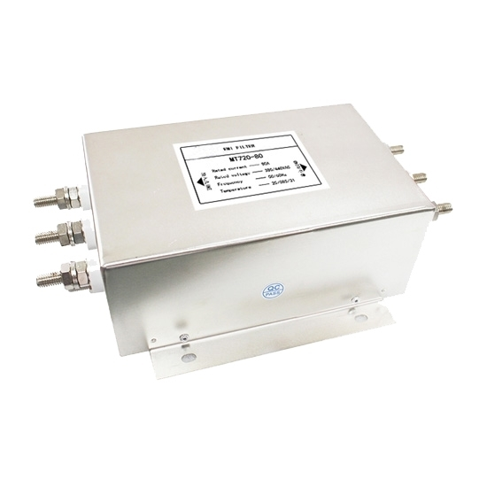 80A 3-phase EMI Line Filter, 2 Stage