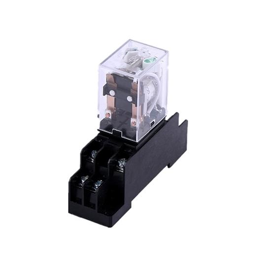 Electromagnetic Relay, DPDT, 12/24/110/220V coils