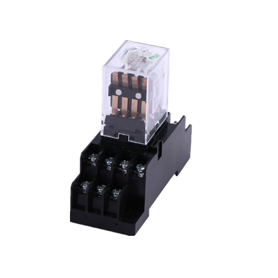 Electromagnetic Relay, 4PDT, 12/24/110/220V coils
