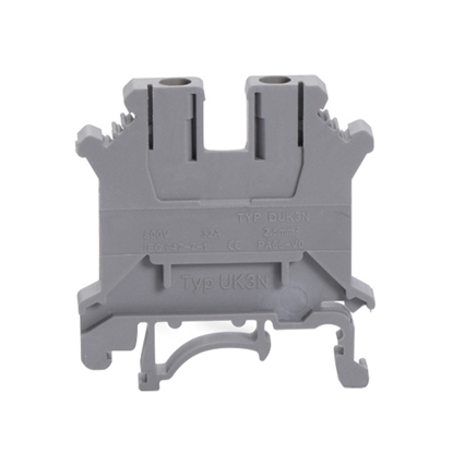 DIN Rail Mounted Terminal Connector Block, 32A, 0.5-0.7 Nm