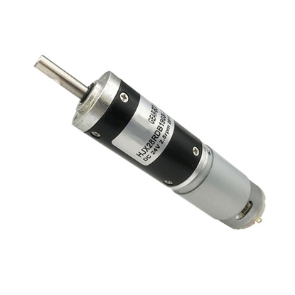 Brushed DC Motor with Gearbox, 7000rpm, 12V/24V, 28mm