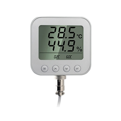 Temperature and Humidity Sensor/Transmitter with Display, Duct Mounted