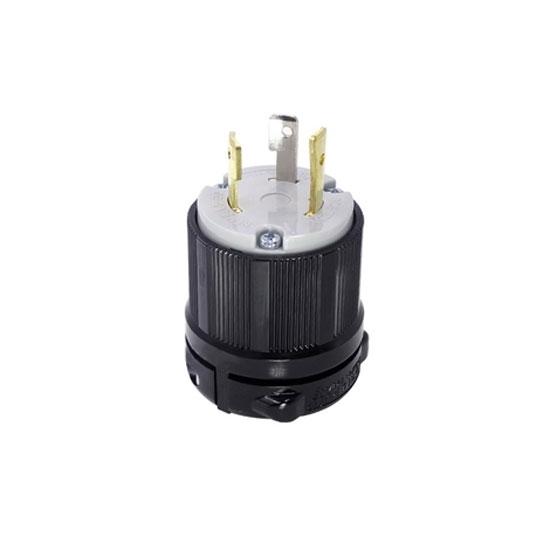 30A 125V Locking Plug, 2 Pole 3 Wire