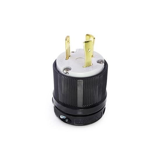 30A 250V Locking Plug, 2 Pole 3 Wire