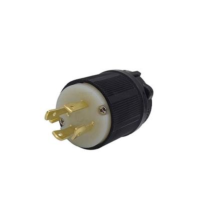 30A 480V Locking Plug, 3 Pole 4 Wire