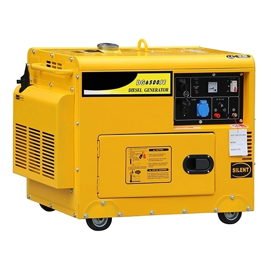 5kW (6kVA) Silent Diesel Generator, 1 Phase/3 Phase
