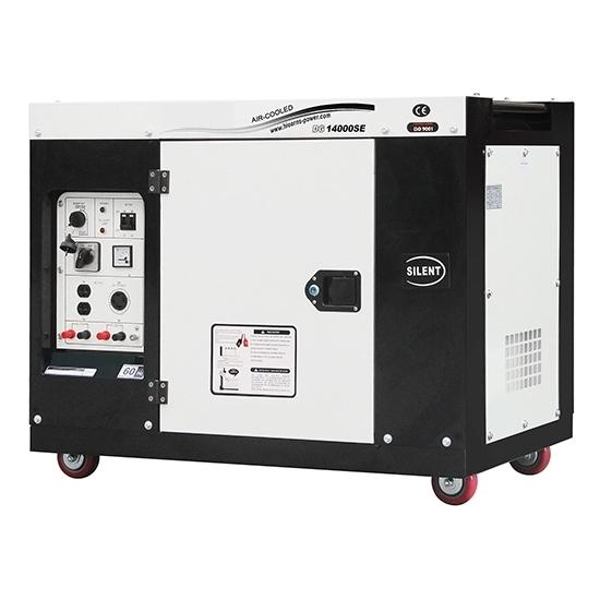 9kW (11kVA) Silent Diesel Generator, 1 Phase/3 Phase