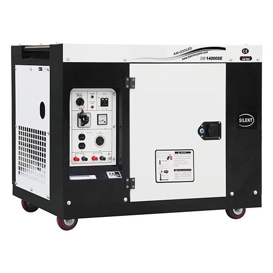 10kW (12.5kVA) Silent Diesel Generator, 1 Phase/3 Phase