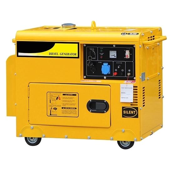 6kW (7.5kVA) Silent Diesel Generator, 1 Phase/3 Phase